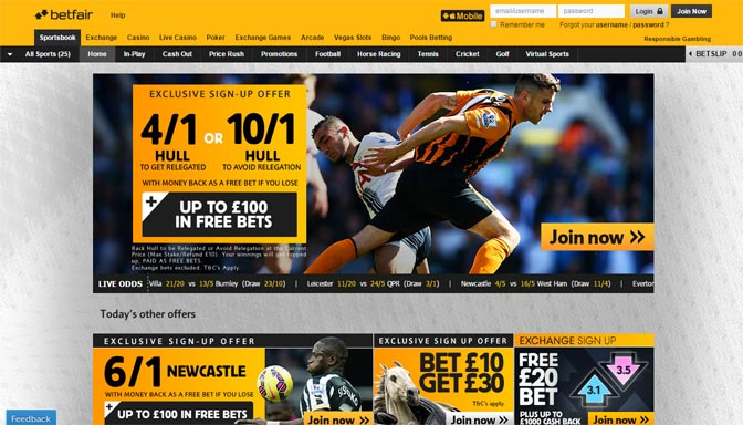 old betfair site