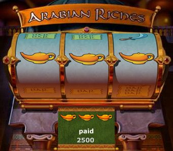 Arabian Riches Slot Reels