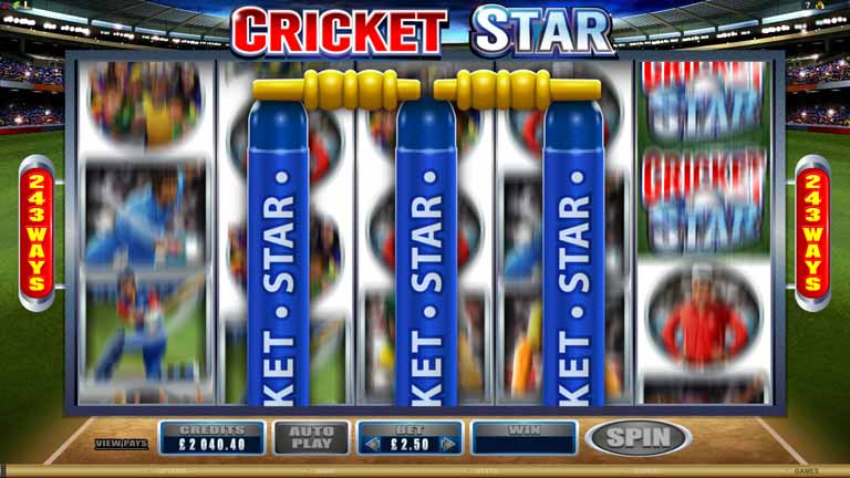 Cricket Star Slot Bonus