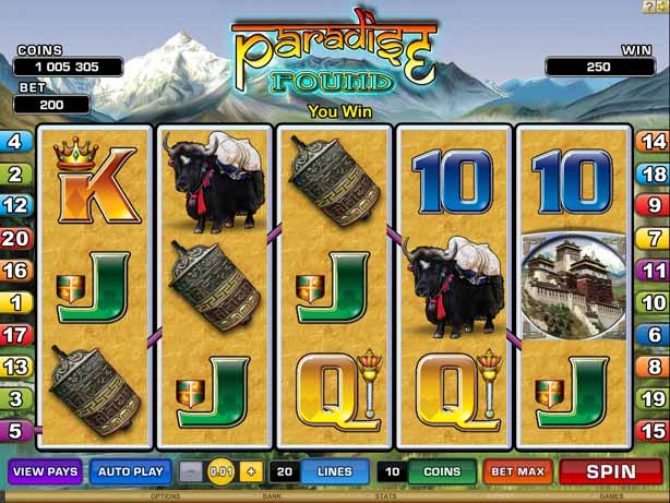 paradise found slot reels