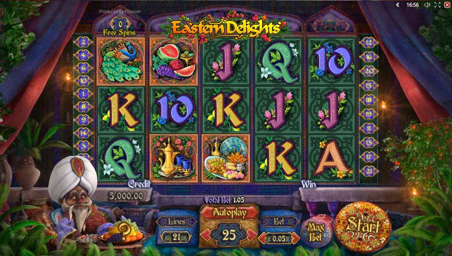 Eastern Delights slot reels