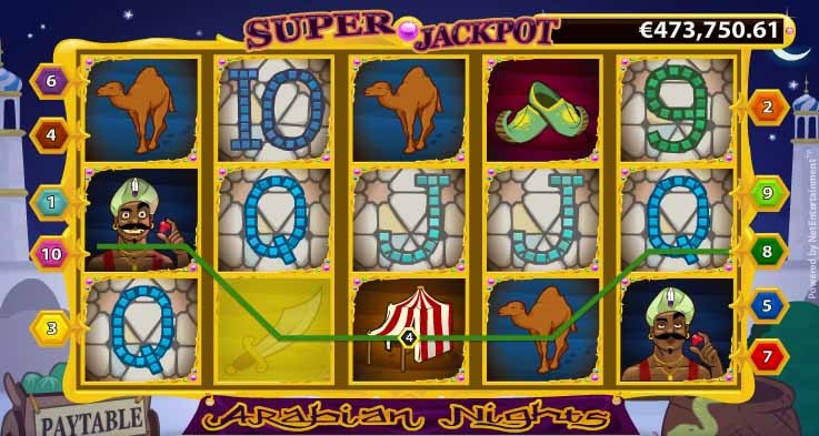 Arabian Nights Slot Bonus