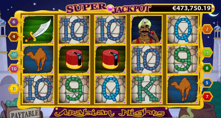 Arabian Nights Slot Reels